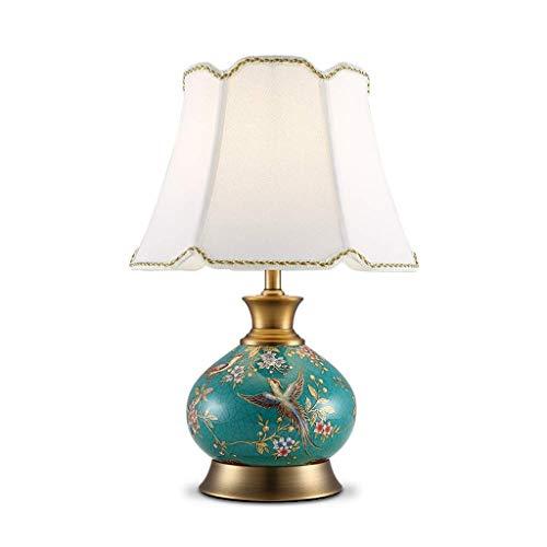 LLYU tafellamp Amerikaanse kunst keramiek emaille handgeschilderd woonkamer Bedside decoratieve verlichting Retro