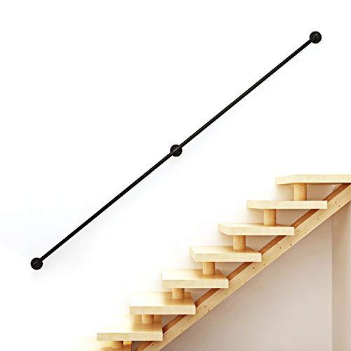 Handlauf für Treppen Innen Aussen Haltegriffe Rohrförmiges Handfußgeländer Sicherheitsgeländer Türgriff Treppengeländer Halter mit Halterungen - Komplettset (3FT/90cm)