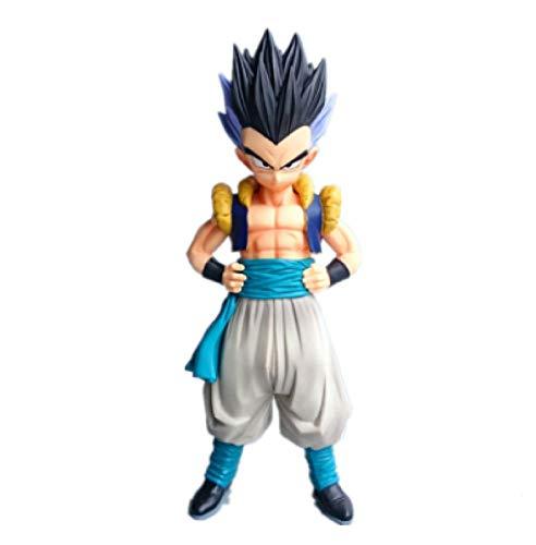Yzoncd Anime Dragon Ball Z Super Saiyan Master MSP Gotenks Son Goten Trunks Figura De Accion Modelo De PVC Muneca De Juguete Regalos 19Cm