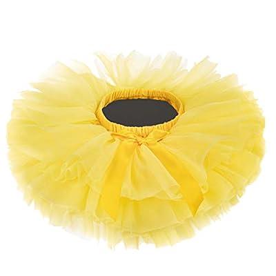 Baby Girls Tutu Skirt, Infant Tulle Tutus, Newborn Soft Skirts for Toddlers Yellow
