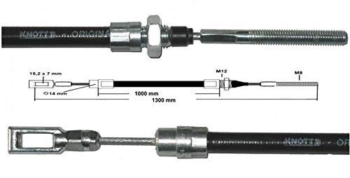 FKAnhängerteile 1 x Bremsseil Knott 35006.16 HL: 1000 mm - GL: 1300 mm - Knott Seil alte Ausführung ~´93