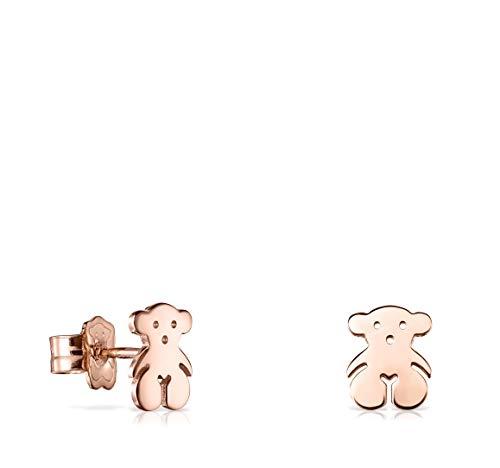 Pendientes Sweet Dolls de Plata Vermeil rosa, tamaño 0,65 cm