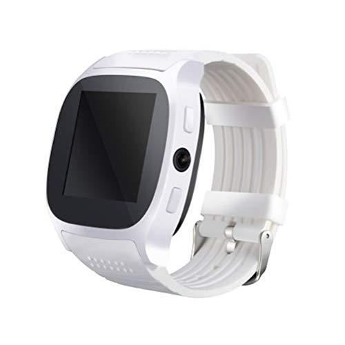Smart Watch T8 BT3.0 Smart Armbanduhr Unterstützung SIM und TFcard Kamera Schrittzähler Sport Tracker (Weiß)