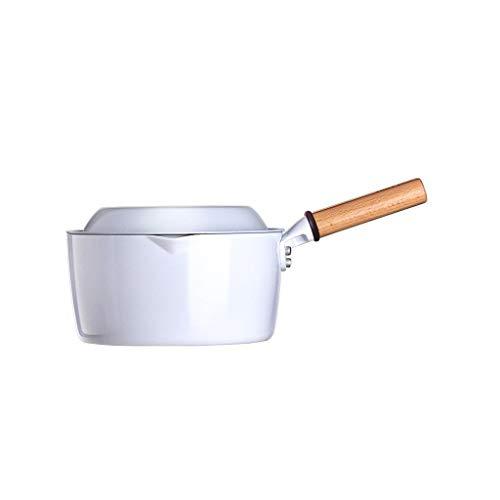 Padelle universali Pentole Per Induzione Pasta Istantanea In Ceramica Bianca Per Uso Domestico Pasta Istantanea Multifunzionale Portatile Pentola Per Latte...