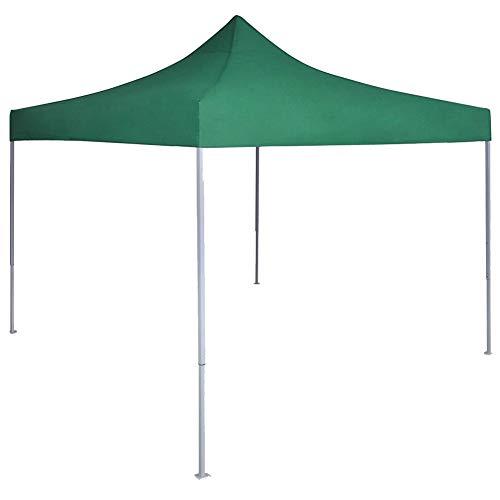 Lyrlody Garden Tent Reception Gazebo Patio Garden Heavy Duty Steel Construction Gazebo 3 x 3 m Quick to Set Up Green