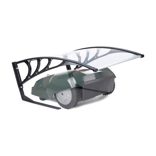 Relaxdays, transparent Garage für Rasenroboter, UV-Schutz, Regenschutz, witterungsfest, HxBxT 47x82x102 cm, Polycarbonat, 47 x 82 x 102 cm