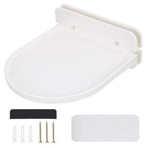Baluue Soporte de Estante de Pared Compatible con Echo Dot- Soporte de Plástico Accesorios de Estante Instalación Rápida Y Fácil Estantes de Montaje en Pared para Mini WiFi Altavoces Y