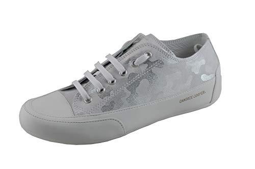 Candice Cooper Rock 01 Argento (Silber-weiß) Militare Leder Base weiß Damen Sneaker Größe 41