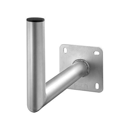 Goobay 67301 Sat Wandhalter aus Alu / Halterung für Sattelitenschüssel bis max. 85cm / Masthalterung / Winkelhalter / Wandausleger / Antennenhalterung mit 350mm Wandabstand