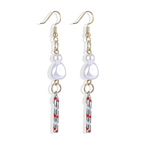 FEARRIN Earrings Trendy Unique Design Christmas Ornaments Stylish Christmas Snowman Tree Earrings Jewelry for Gift H24-ZL878-3