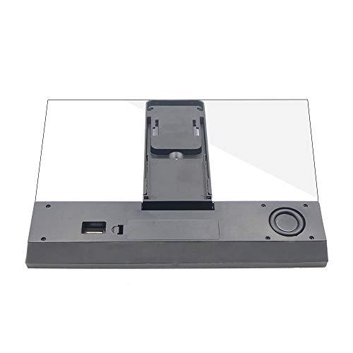 YASEking. 12-Zoll-Handy 3D-Screen Magnifier Folding Curved Vergrößerte HD Film Verstärkungs-Projektor Standhalter mit Lautsprecher (Color : Black)