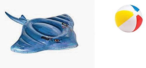 Reittier Badetier Aufblasbare Rochen für absoluten Badespaß ! Mit Haltegriff. Größe aufgeblasen: ca. 188 x 145 cm Badespaß für Kinder / aufblasbarer Rochen / Kinderbadeartikel Rochen / aufblasbares Reittier Rochen / aufblasbare Badetiere / aufblasbare Badeartikel für Kinder / aufblasbare Badetiere / Stechrochen / Peitschenschwanzrochen / der ideale Badespass für Schwimmbad , See , Strand oder Bade Urlaub