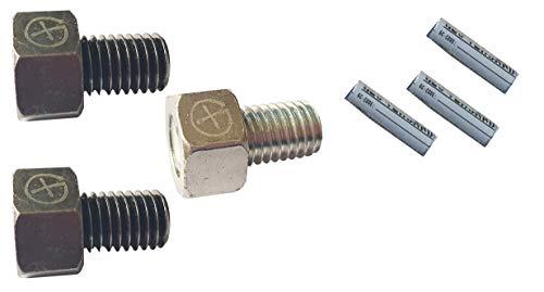 geo-versand Unisex– Erwachsene Geocaching Magnetische Schraube-Set mit Logstreifen 6 TLG Versteck, Mehrfarbig, One Size