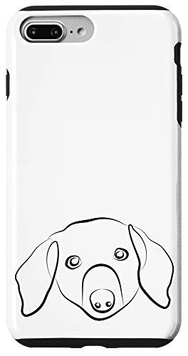 iPhone 7 Plus/8 Plus Dachshund Line Art Drawing Sausage Wiener Dog Case