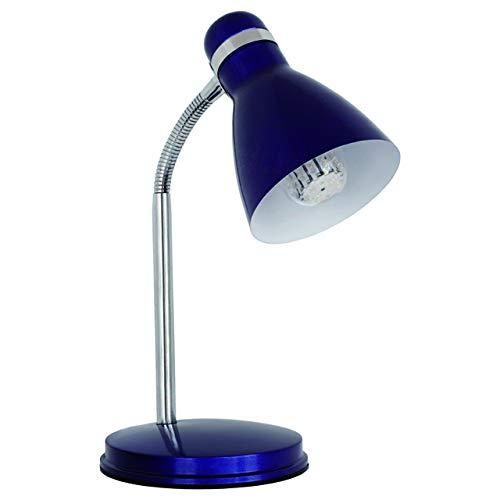 Lampara de escritorio flexible NARANJA de mesa max 40W E14 220-240V 07563 (AZUL)