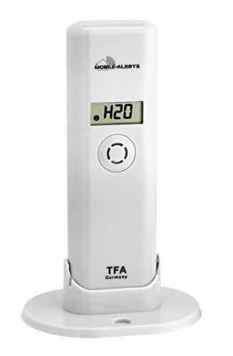 TFA Dostmann thermo-hygro-zender, met watermelder, Smart Home, opvragen van gegevens over smartphone, waarschuwing voor waterschade, temperatuur, luchtvochtigheid