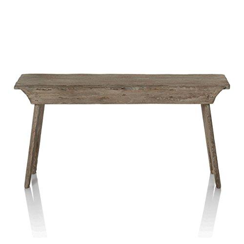 Pureday Bank - Rustikal - Sitzbank aus recyceltem Holz - ca. B90 x H44 x T29 cm