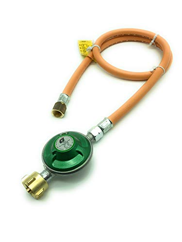 Adapter für USA BBQ Gasgrills - 1m Schlauch und 30 mbar Regler