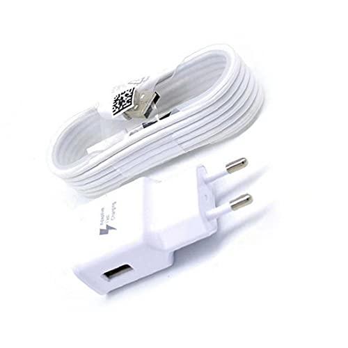 FeelMeet Adaptativo rápido Cargador USB 2.0 Micro Cable Ultra rápido Cargador con Adaptador de Pared Compatible con Samsung Galaxy S7 con 4.9 pies de Cable de Estados Unidos versión en Blanco