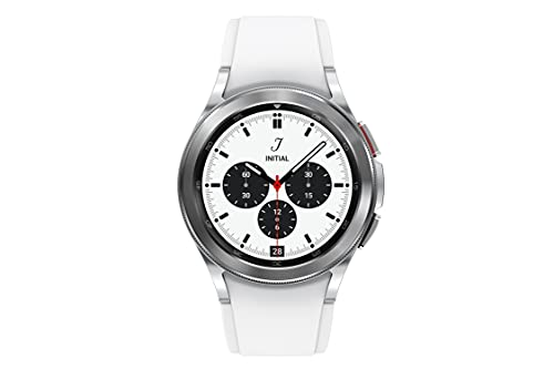 Samsung Galaxy Watch 4 Classic 46mm Smartwatch with ECG Monitor Tracker for Health Fitness Running Sleep Cycles GPS Fall Detection LTE US Version, Silver