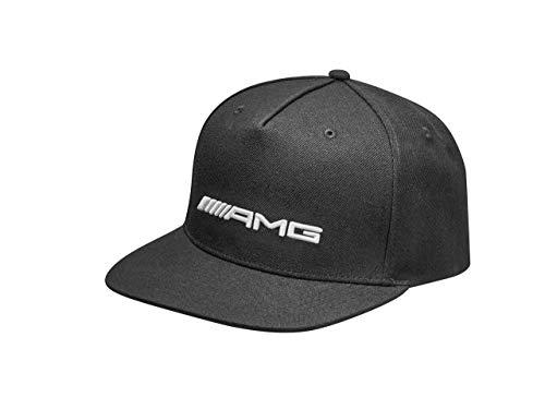 Mercedes-Benz Collection AMG Flat Brim Cap Herren | Herren Cap Snapback mit AMG Logo aus Polyacryl & Wolle | schwarz, weiß