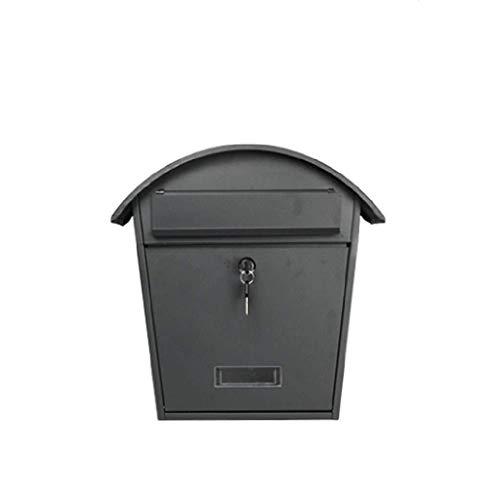 YJLGRYF Briefkasten Abschließbarer Briefkasten Briefkasten aus verzinktem Stahl Diebstahlsicherer Briefkasten Schwarz