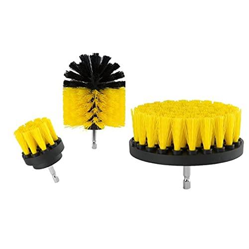 SHUJINGNCE 2021 Heißer Bohrer Pinselreiniger Scrubbing Pinsel für Badezimmer Mörtel Fliesen Badewanne Dusche Küche Auto Pflege Reinigungswerkzeuge (Color : S)