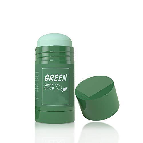 Green Tea Mask Stick, Grüner Tee-Maske Stick für das Gesicht, Purifying Clay Stick Mask für Mitesser entfernen, Anti-Akne-Ölkontrolle & Porenreinigung für alle Hauttypen Frauen und Männer