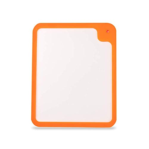 Scherpe raad Flexibele snijplank for kleine glazen keukens A chopping board (Color : Orange, Size : 41x33x1.2cm)