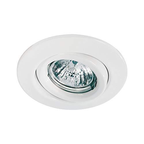 Paulmann 98971 Einbauleuchte Quality Line 51 mm Spot Weiß Einbaulampe schwenkbar Einbaulicht max. 1x50W Deckenspot 12V GU5,3 Metall Einbaustrahler, GU5.3