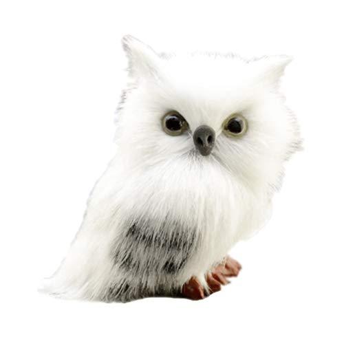 Toyvian Plüsch Eule Figur Owl Tierfigur Dekofigur Gartenfigur Weihnachten Deko Figur Tischdeko Weihnachtsdeko für Garten Balkon Büro Haus
