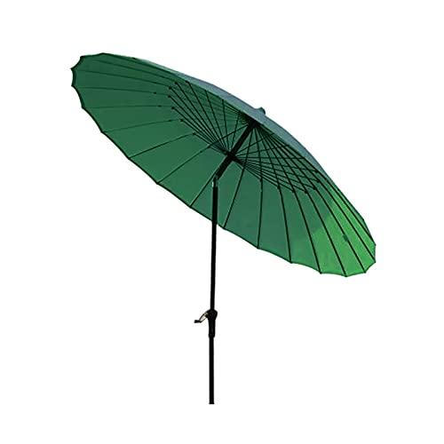 Sombrilla Sombrilla de patio de jardín chino retro redondo de 8.2 pies, sombrilla de mesa al aire libre con inclinación y manivela para familia, patio, camping, césped, picnics, hotel, porche, terraza