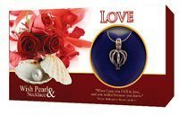 Love Perle En Coquillage Médaillon & Collier Argent Love Roses