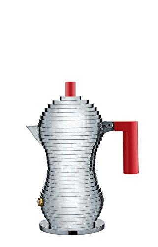 Alessi MDL02/1 R Pulcina Caffettiera Espresso, in PA e Fusione di Alluminio, 1 Tazza, Rosso
