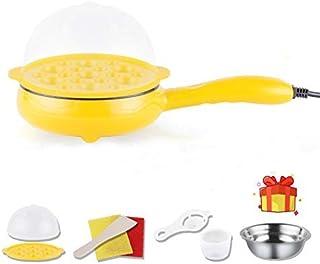 Cocedor de Huevos,Mini Sartén eléctrica para el hogar Sartén Huevos fritos Caldera Vapor Filete Frito Antiadherente Tortilla Panqueque Desayuno, panqueque y Caldera