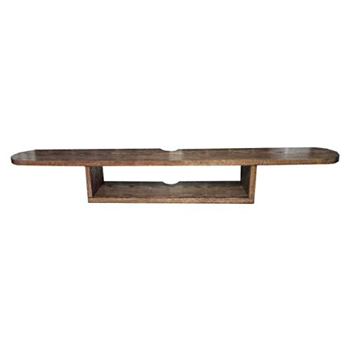 Household Necessities/Punch wandrek, wandmontage, voor kast, router, huis/slaapkamer, woonkamer, tv-meubel, eenvoudig, rek van massief hout 80CM*20CM*16CM Geel