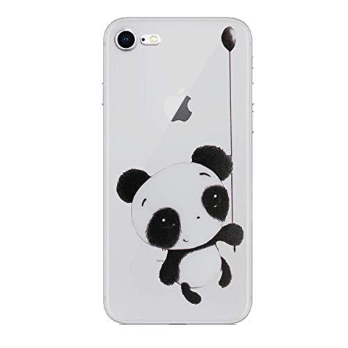 iCHOOSE Panda gelbehuizing voor smartphone Apple iPhone 7 Ballon