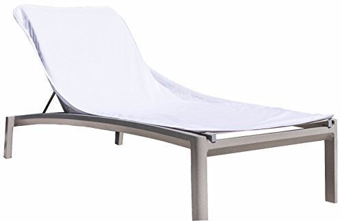 Black & White Brands Chaise Terry Lounge Chair Cover. 100 Percent Ringspun Cotton Towel. Great for Home, Pool or Beach. 30x85 with 8' Pocket and 450 GSM