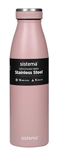 Sistema 500ml RVS Fles Roze