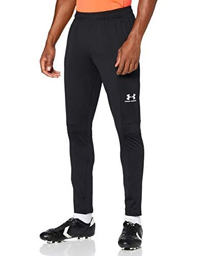 Under Armour Challenger III Training Pant, pantalones de chándal para hombre, pantalones largos muy ligeros hombre, Negro (Black/White (001)), L