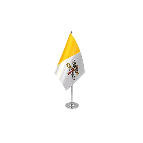 AZ FLAG Vatican City Prestige Table Flag 6