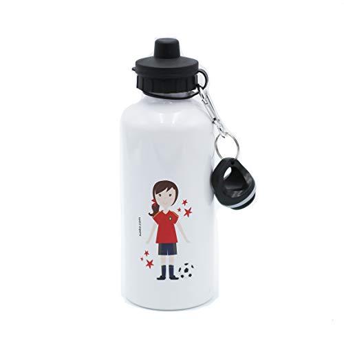 SUSIKO | Botella Aluminio con 2 Tapones | Niña Futbolista | Medidas...