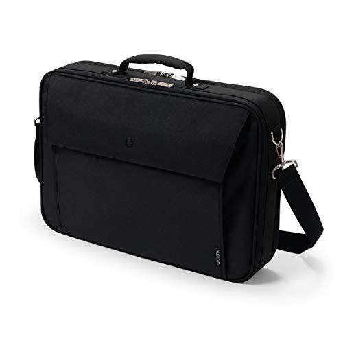 Dicota Multi Plus 15–17,3 Zoll BASE Umhängetasche für Laptop, Computer & Tablet, Leichtgewichtige Aufklappbare Clamshell-Laptoptasche, Schwarz
