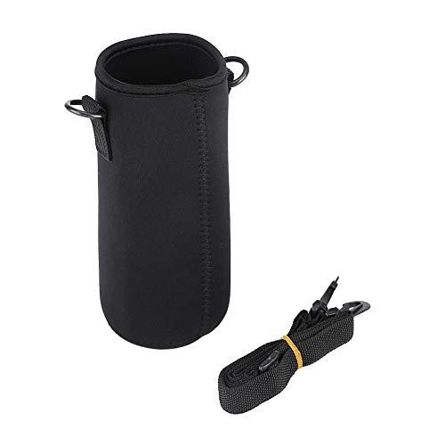 Pochette de Transport en néoprène pour Bouteille d'eau avec bandoulière pour Camping, randonnée, pêche(15cm)