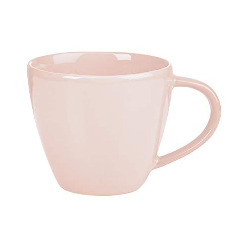 BUTLERS Sphere Tassen-Set 4 x 360ml in Rosa - Buntes Kaffeetassen-Set aus Steinzeug - Kaffeebecher, Teetassen