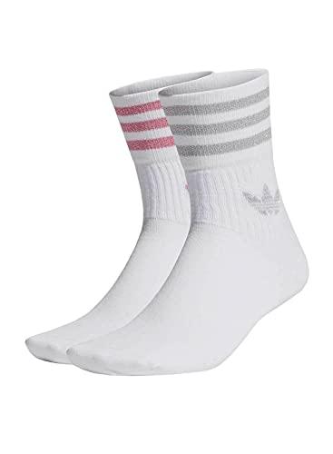 adidas Mid Cut GLT SCK Guantes para ocasiones especiales, Blanco/Grey Two/Rose Tone, XS para Mujer