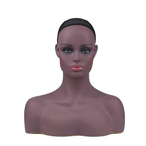 Weiblich Schaufensterpuppe Kopf,Perücke Brille Hut Anzeige Modell,Mannequin Berufsmannequinkopf Ist Aus PVC Gefertigt
