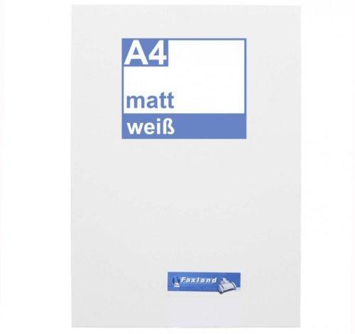 Klebefolie 10 x DIN A4 weiß matt - Druckerfolie, klebend, zum bedrucken, Wetterfest, Wasserfest für Laserdrucker, Outdoor