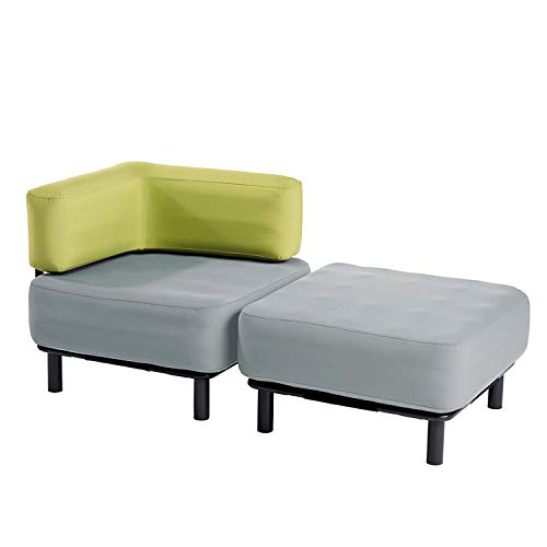 One Bar Récamiere - Light Grey/Peridot Green Aufblasmöbel, Just add air, Mobile Lounge, Luft, Sofa, Couch, Sessel, Outdoor, Garten, Luftpolster, Lounge Set, Gartenmöbel