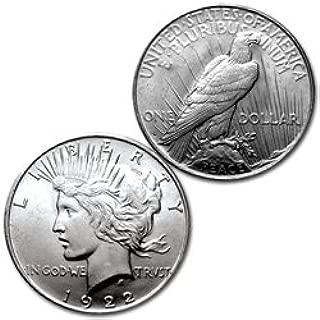 1922-S - PEACE DOLLAR - CHOICE UNCIRCULATED - SILVER DOLLAR